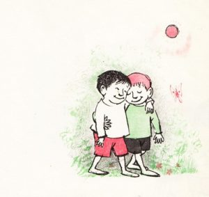 Illustration by Maurice Sendak from a vintage ode to friendship by Janice May Udry